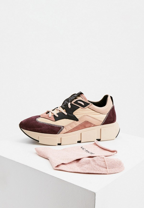 женские кроссовки vic matie, розовые
