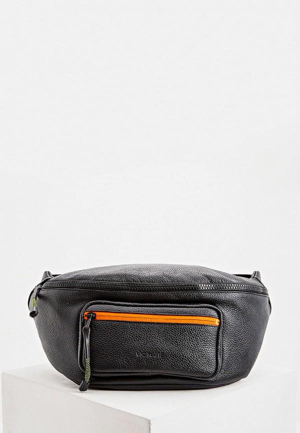 мужская поясные сумка vic matie, черная