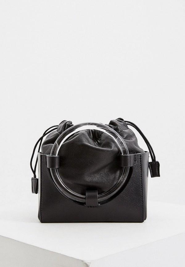 женская сумка-ведро vic matie, черная