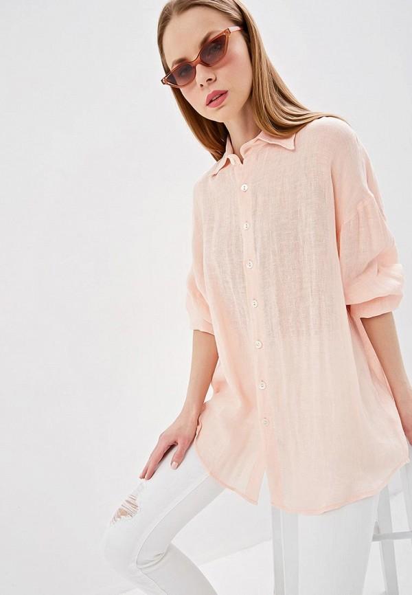 женская рубашка с длинным рукавом vitamin a, розовая