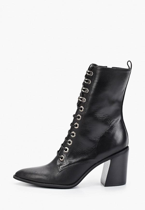 женские высокие ботильоны vicenza, черные