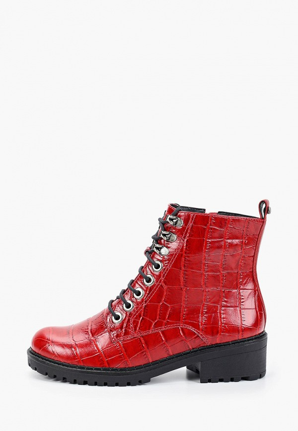 женские высокие ботинки vicenza, красные