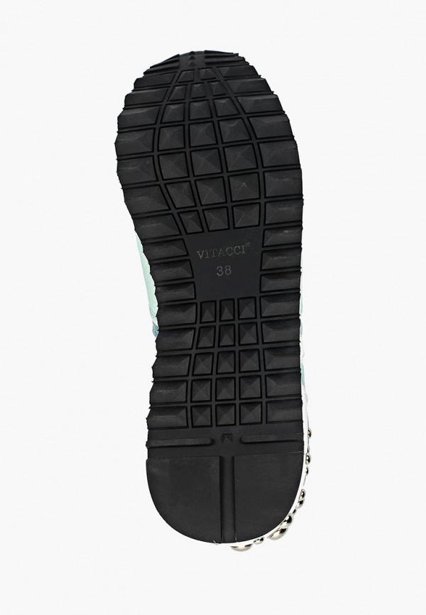 Фото 5 - женские кроссовки Vitacci зеленого цвета