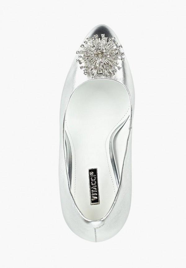 Фото 4 - женские туфли Vitacci серебрянного цвета