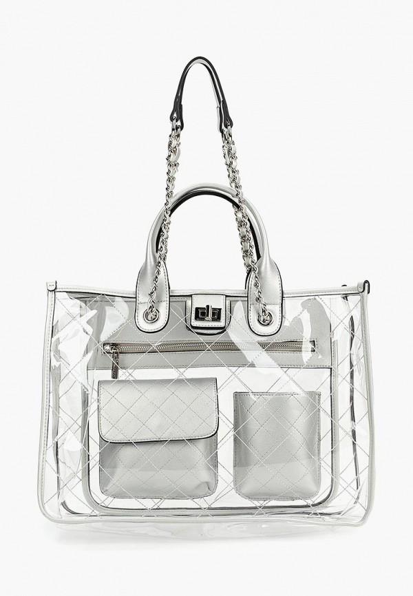 женская сумка vitacci, серебряная