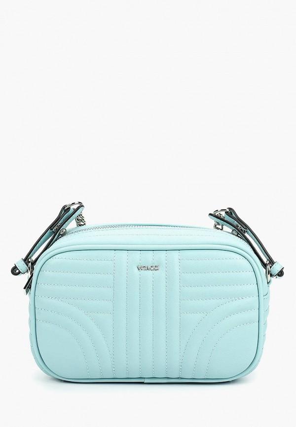 женская сумка vitacci, голубая