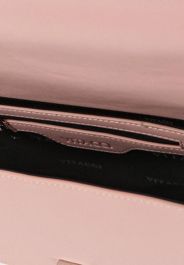 Фото 3 - женскую сумку Vitacci розового цвета