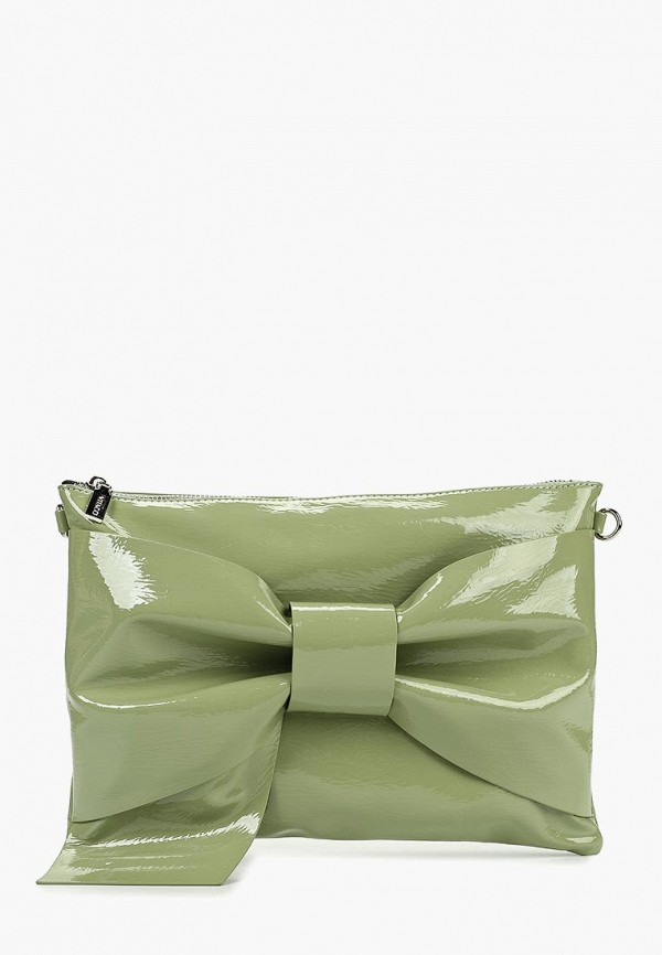 женский клатч vitacci, зеленый