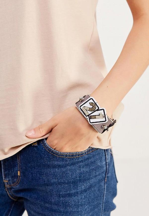 Фото 2 - женский браслет Vitacci серого цвета