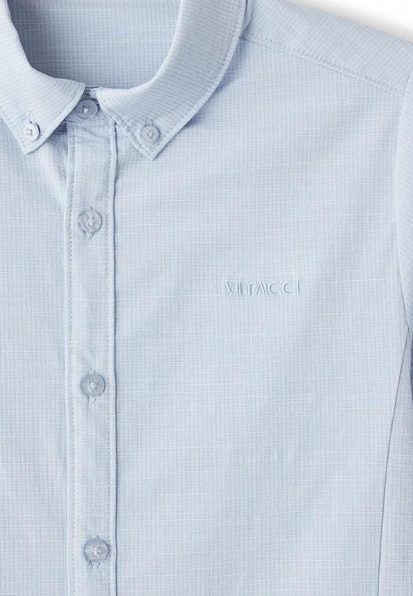 Фото 3 - Рубашку Vitacci голубого цвета