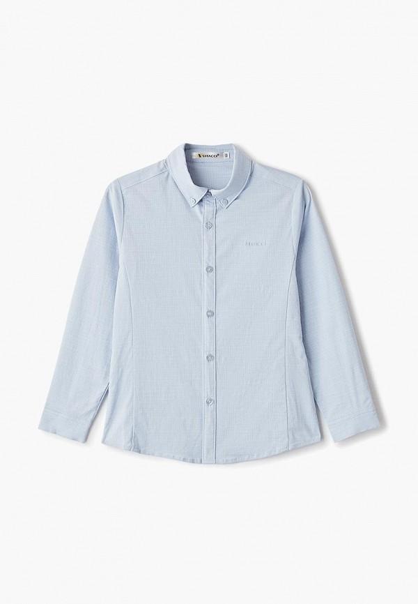 рубашка vitacci для мальчика, голубая