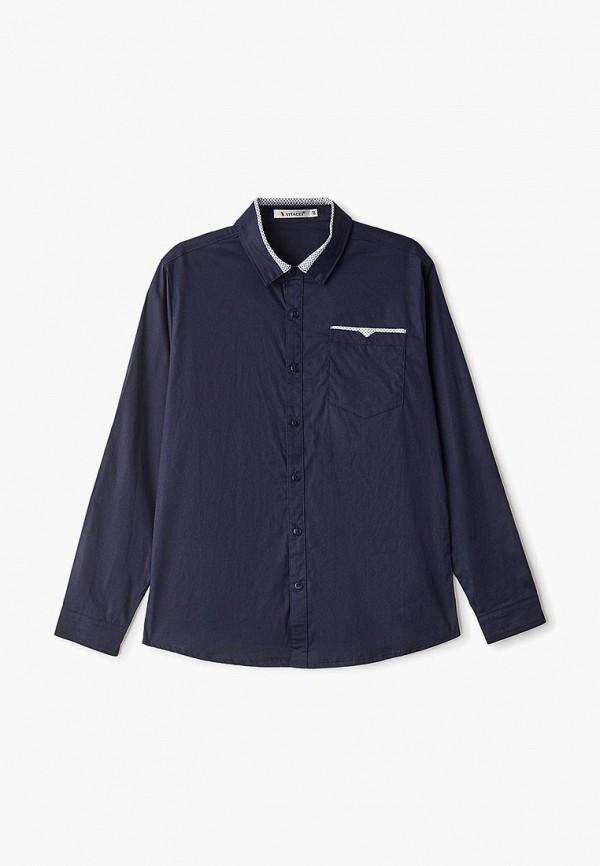 рубашка vitacci для мальчика, синяя