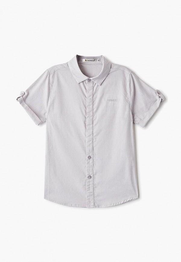 рубашка vitacci для мальчика, серая