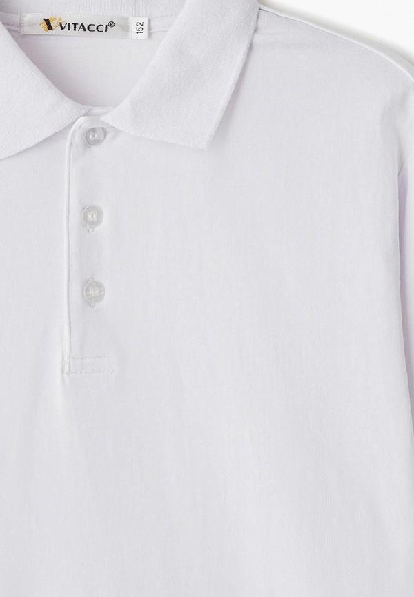 Фото 3 - футболку или поло для мальчика Vitacci белого цвета