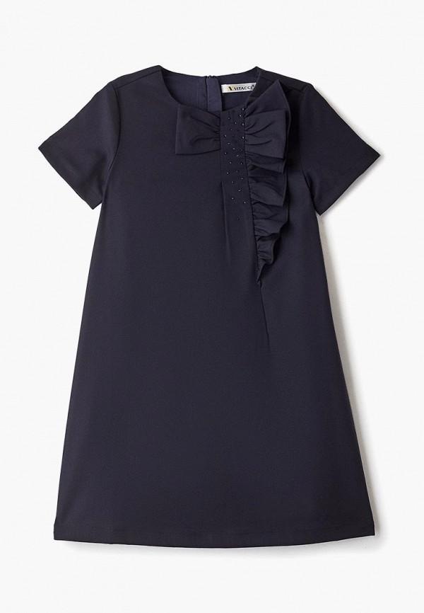 повседневные платье vitacci для девочки, синее