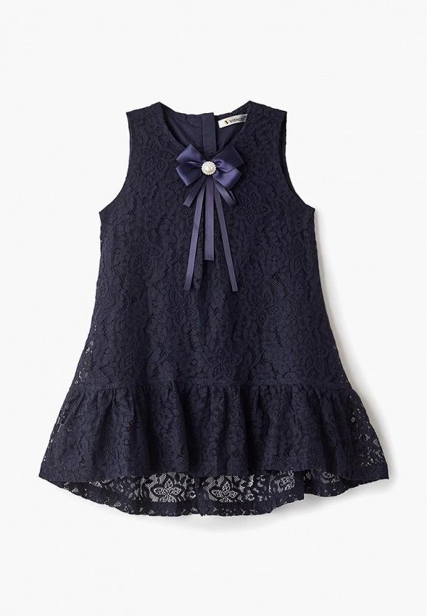 платье vitacci для девочки, синее