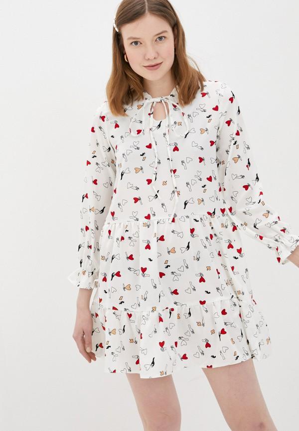 женское повседневные платье vickwool, белое