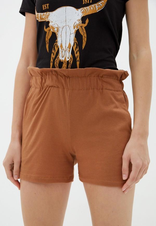 женские повседневные шорты vickwool, коричневые