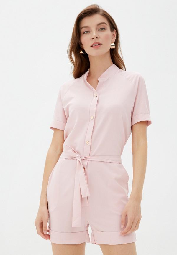 женский комбинезон vickwool, розовый