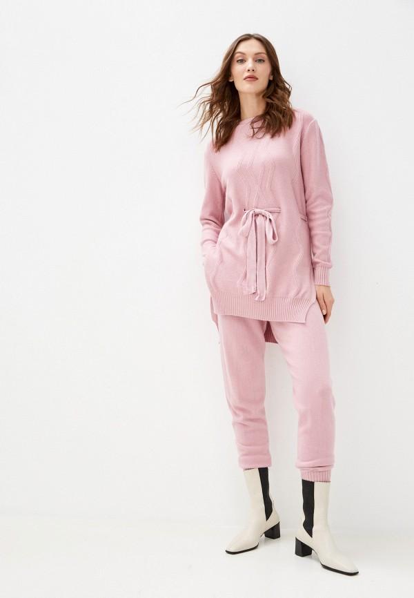 женский костюм vickwool, розовый