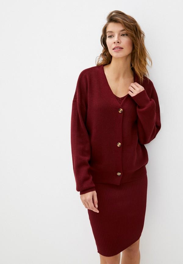 женский костюм vickwool, бордовый