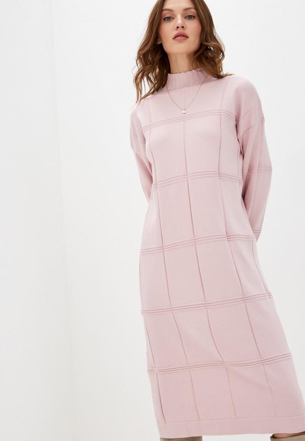 женское платье vickwool, розовое