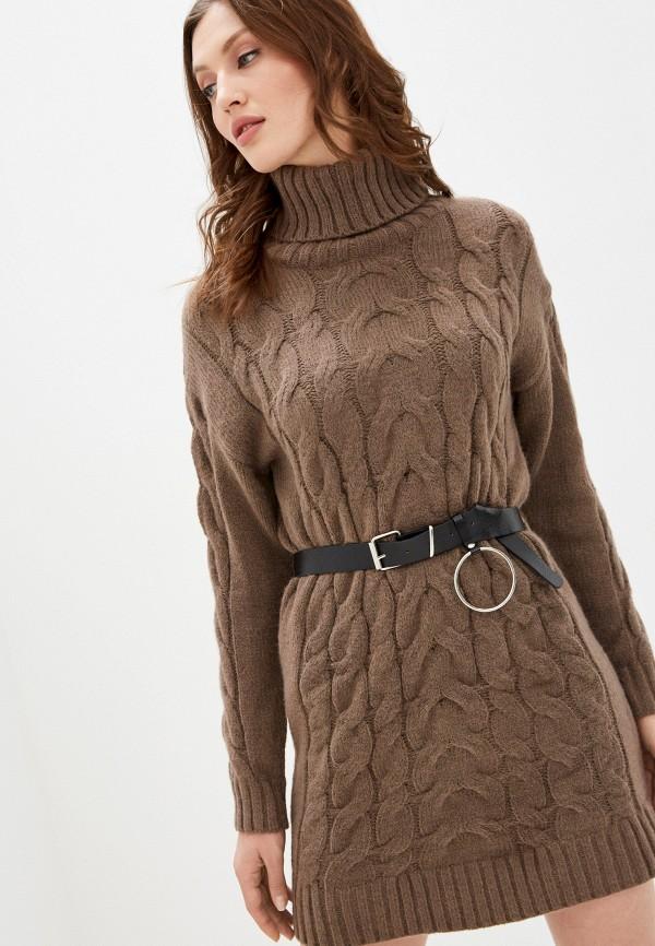 женское платье vickwool, коричневое