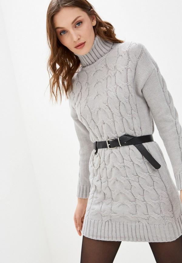 женское платье vickwool, серое
