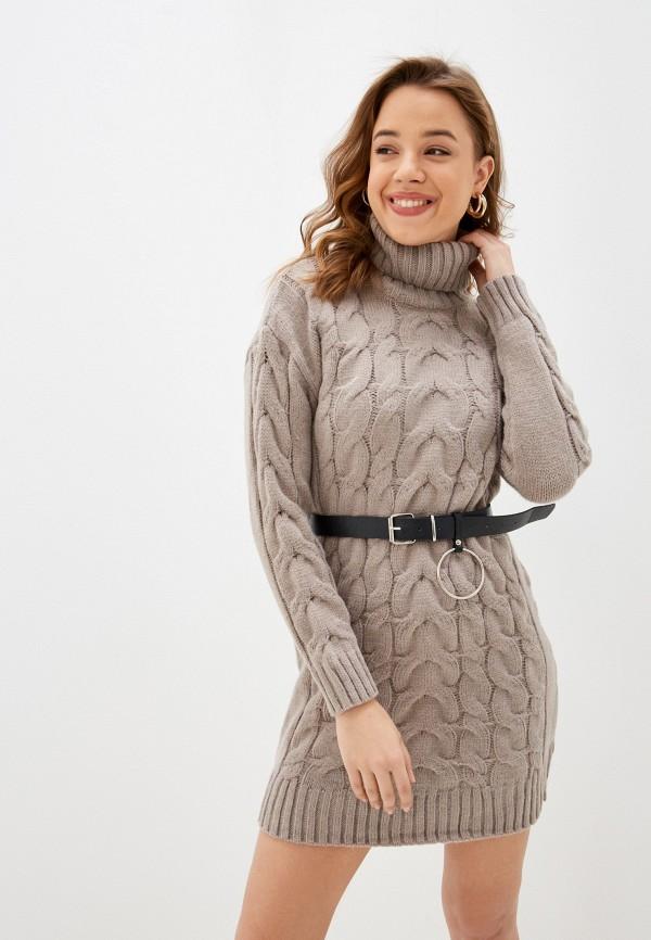 женское платье vickwool, бежевое