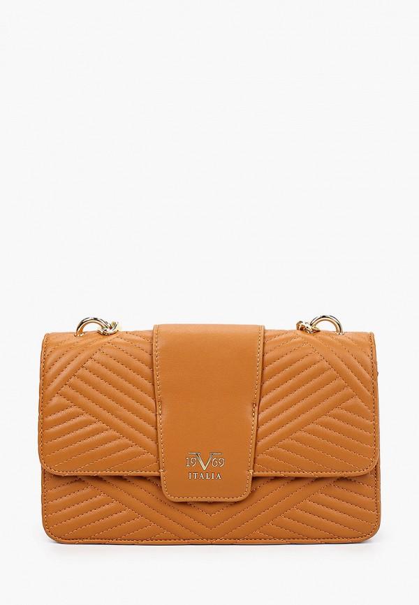 женская сумка 19v69 italia, коричневая
