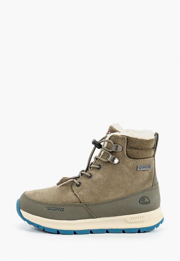 ботинки viking для мальчика, хаки