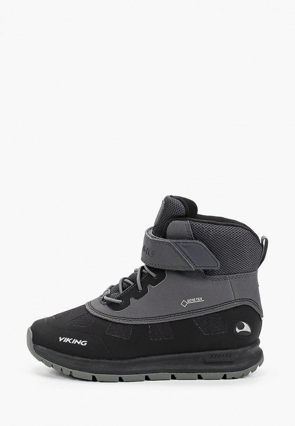 ботинки viking для мальчика, черные