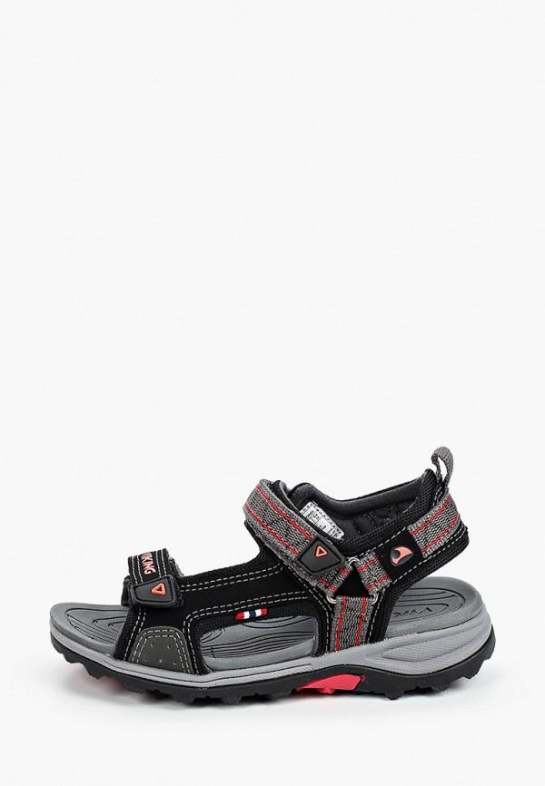сандалии viking для мальчика, черные
