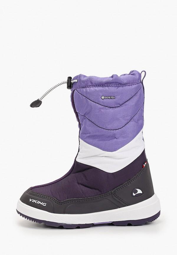 дутики viking для девочки, фиолетовые