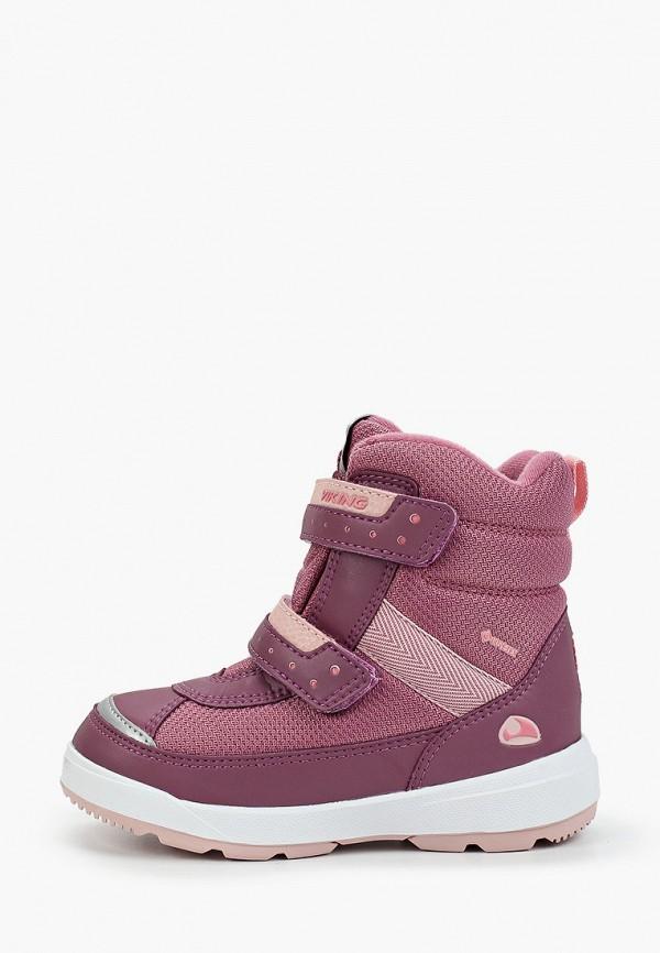 ботинки viking для девочки, розовые