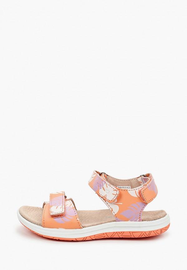 сандалии viking для девочки, оранжевые