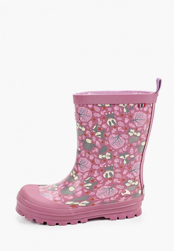 резиновые сапоги viking для девочки, розовые