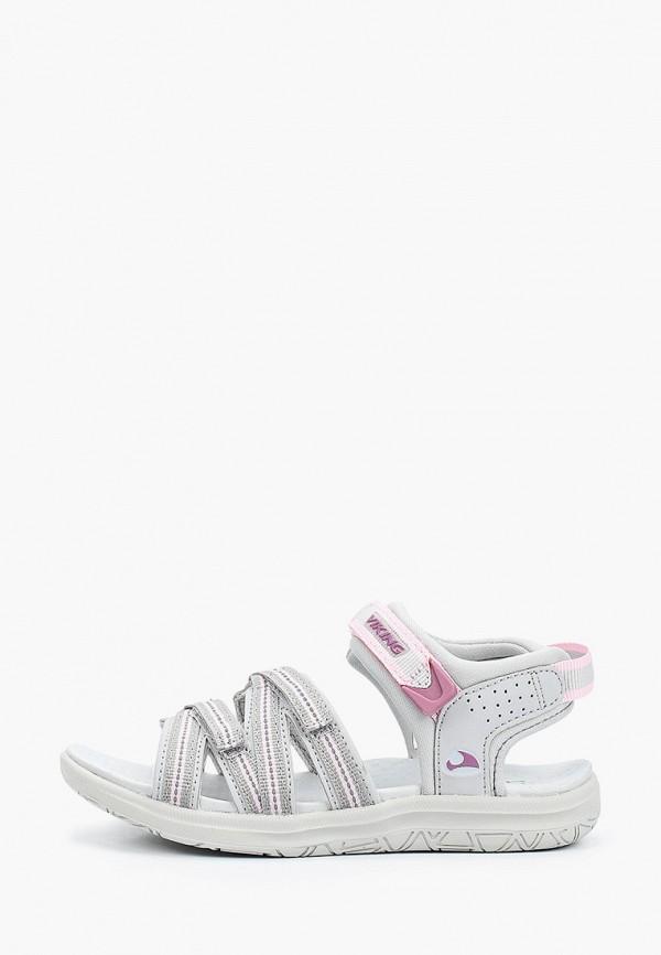 сандалии viking для девочки, белые