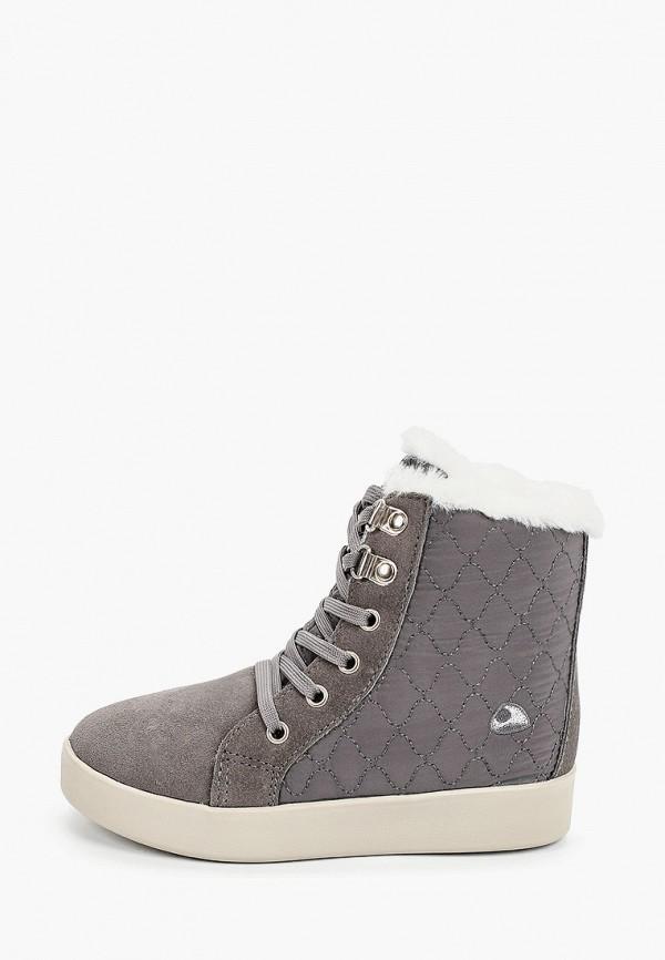 ботинки viking для девочки, серые