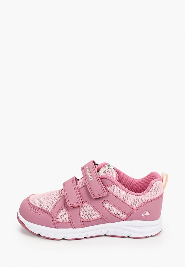 кроссовки viking для девочки, розовые