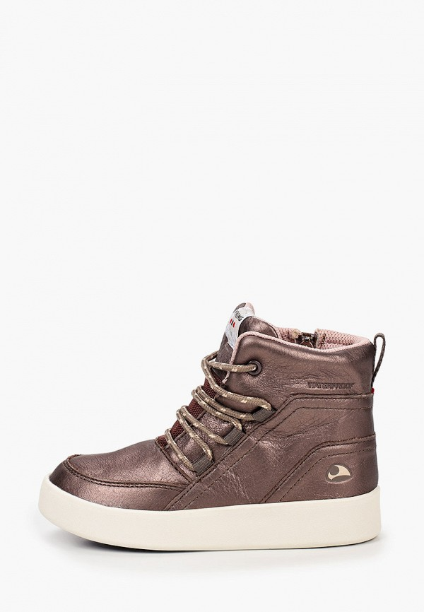 ботинки viking для девочки, золотые