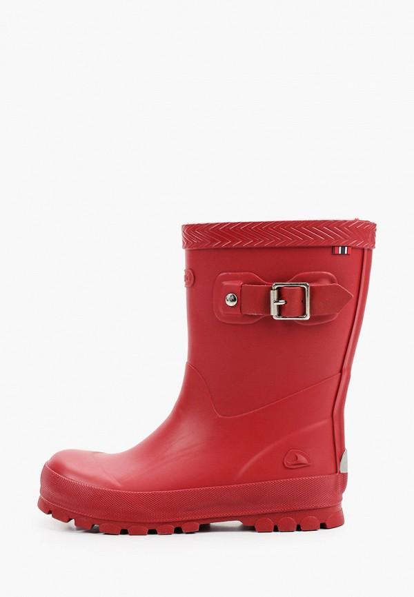 резиновые сапоги viking для девочки, красные