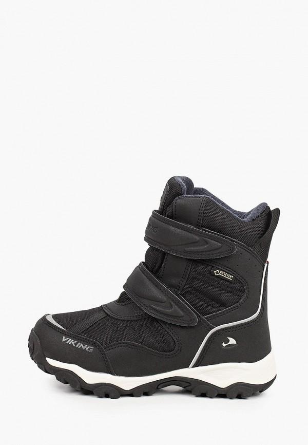 ботинки viking малыши, черные