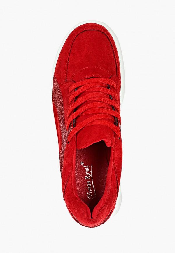 Фото 4 - женские кроссовки Vivian Royal красного цвета