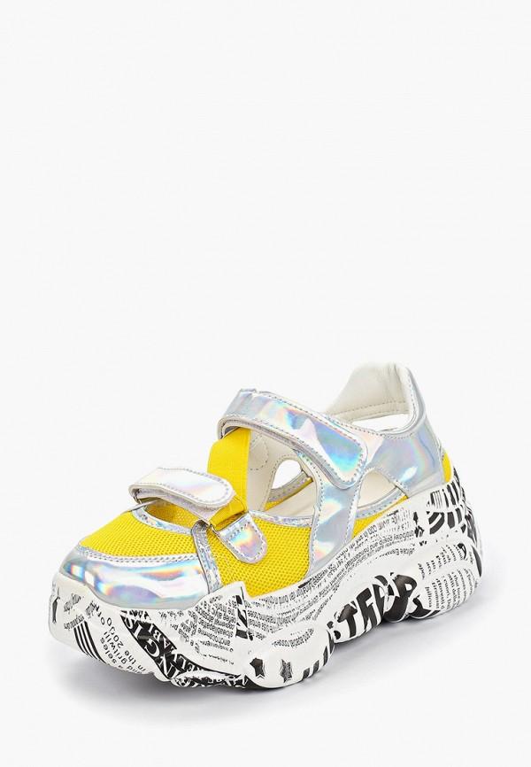 Фото 2 - женские кроссовки Vivian Royal желтого цвета