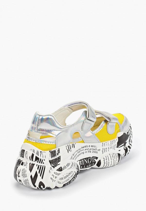 Фото 3 - женские кроссовки Vivian Royal желтого цвета