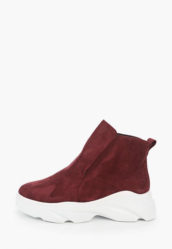 женские ботинки vivian royal, бордовые