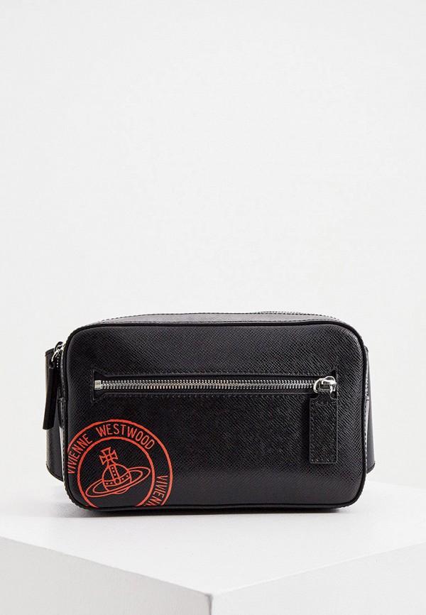мужская сумка vivienne westwood, черная