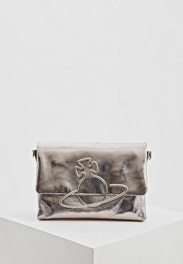 женская сумка vivienne westwood, серебряная