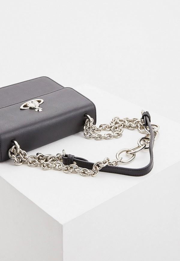 Фото 4 - женскую сумку Vivienne Westwood черного цвета